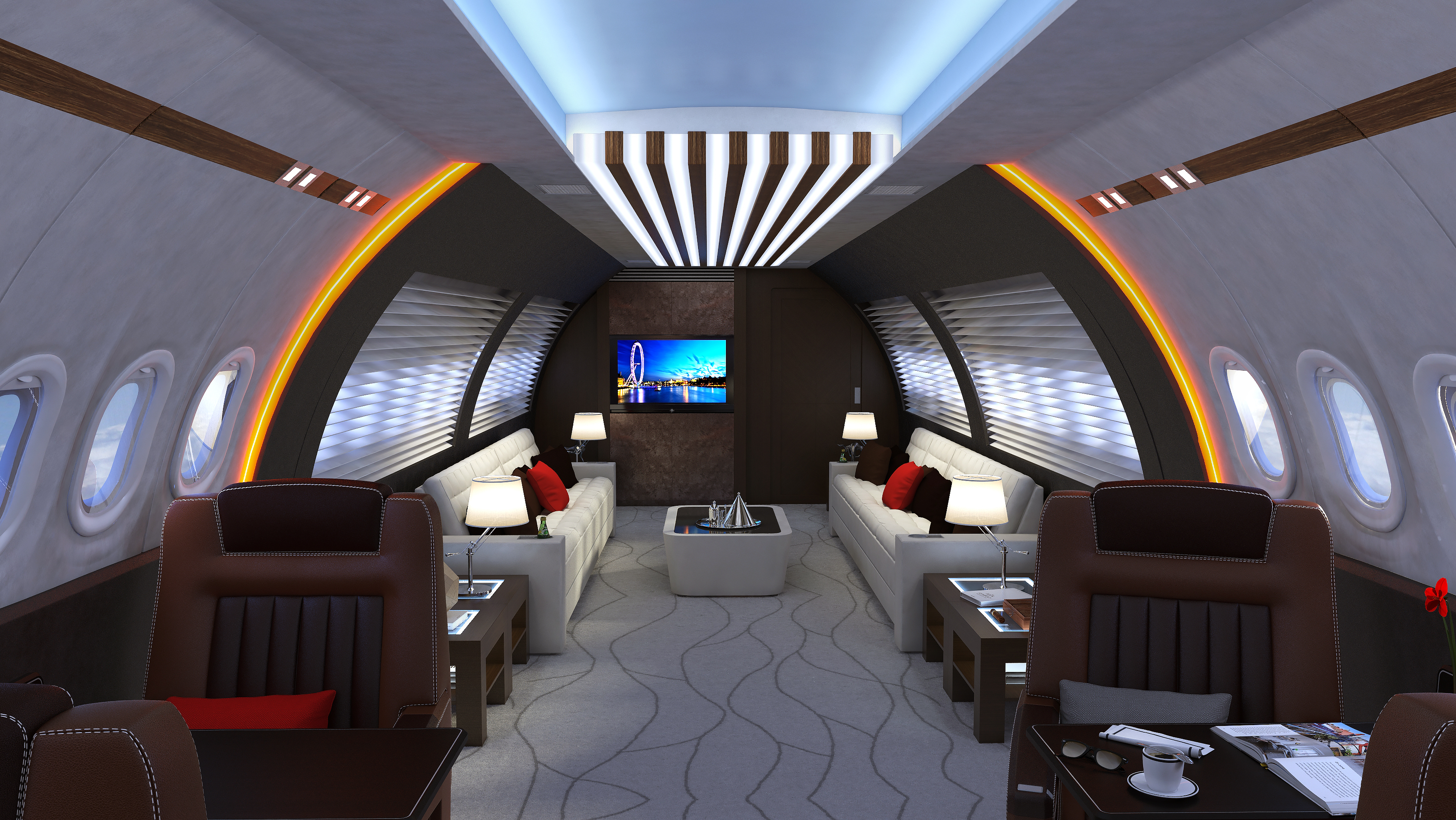 A320 Business Jet Interior Concept