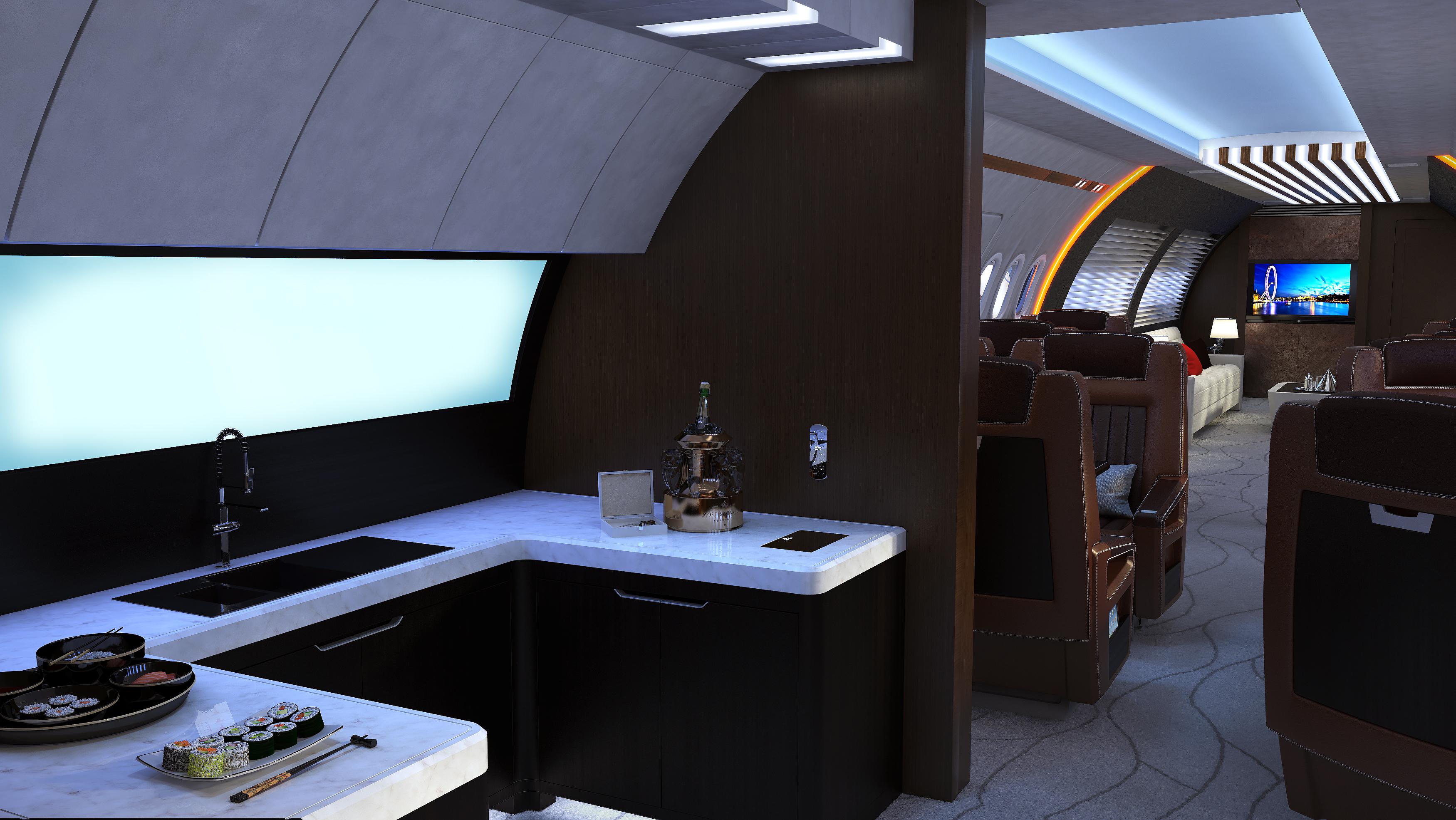 A320 Business Jet Interior Concept Design